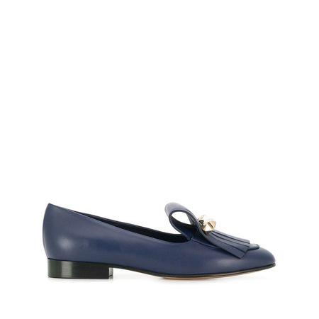 Garavani 'rockstud' Zierlasche Loafer Mit Blau Valentino MVpSqUz