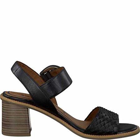 0402015748c23 Tamaris Schuhe 1-1-28314-28 Bequeme Damen Sandalette, Sandalen,  Sommerschuhe für Modebewusste Frau, Schwarz (Black), EU 37