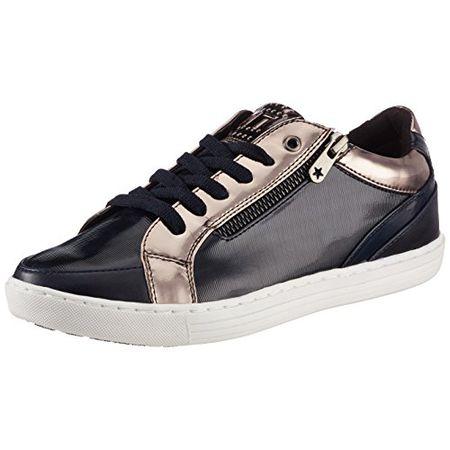 cheaper 9b299 5d41b Marco Tozzi Damen 23600 Sneaker, Blau (Navy STR.P.C.), 37 EU