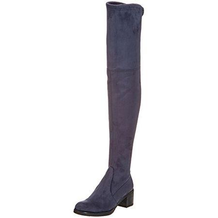 Buffalo London Damen 2865 Micro Strech Stiefel, Grau (Antracite 01), 38 EU