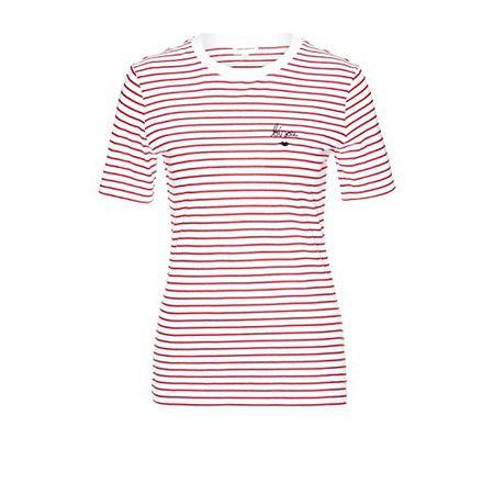 dfacb44ef41bb3 armedangels Damen T-Shirt Aus Bio-Baumwolle - LIDA Bisou on Stripes - S