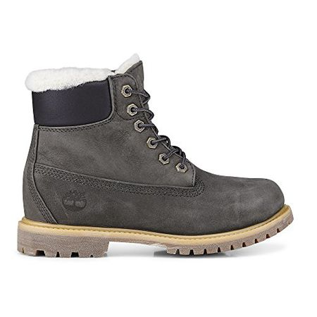 Timberland Damen Boots 6 inch Premium Shearling Grau (231) 38,5EU