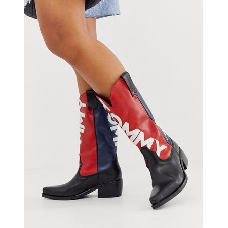 Tommy Jeans – Heritage – Cowboystiefel Navy