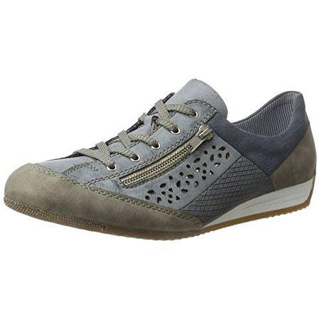 Rieker L9041 Women Low Top, Damen Sneakers, Blau (staubazurazurdenim42), 41 EU