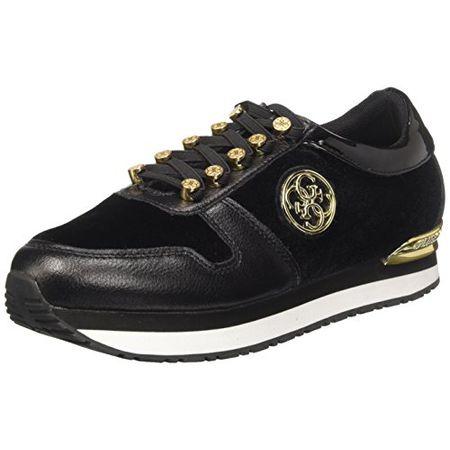 Guess Damen Roman Sneakers, Schwarz (Nero), 39 EU