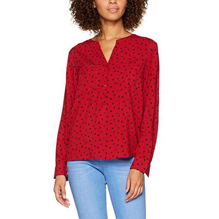 fceae28277cf0 TOM TAILOR Damen Bluse Casual Print Blouse, Rot (Scooter Red 4543), 36