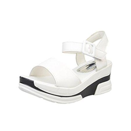 544aeb9c6572fb Elecenty Sandalen Damen Keilabsatz Schuhe