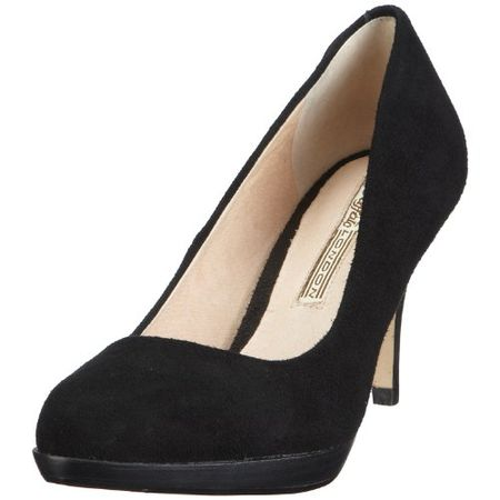 Buffalo London 109 3499 KID SUEDE 109018, Damen Pumps, Schwarz (BLACK 01), EU 40