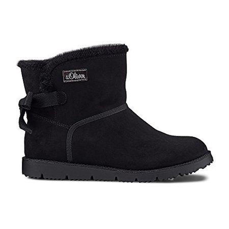 new product 8ce3b 62b56 s.Oliver 25207, Damen Biker Boots, Schwarz (BLACK 1), 38 EU (5 Damen UK)