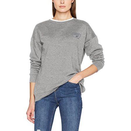 Vans Apparel Damen Sweatshirt Full Patch Plus Crew, Grau (Grey Heather), 6 (Herstellergröße: X Small)