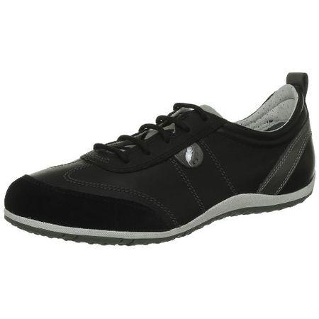 Geox D VEGA A, Damen Sneakers, Schwarz (BLACKC9999), 42 EU