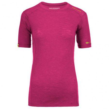 rot Ortovox Merino Competition Short Sleeve women