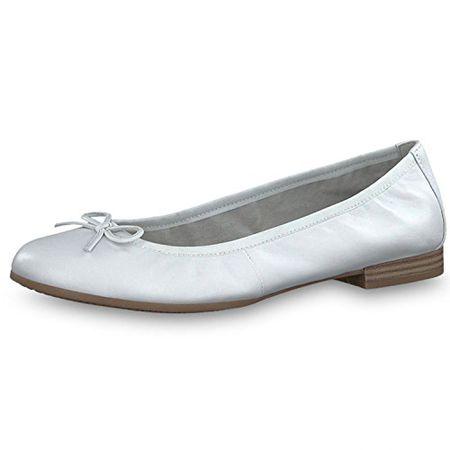 Tamaris Damen Ballerinas WHITE (weiß) 1 1 22116 22100