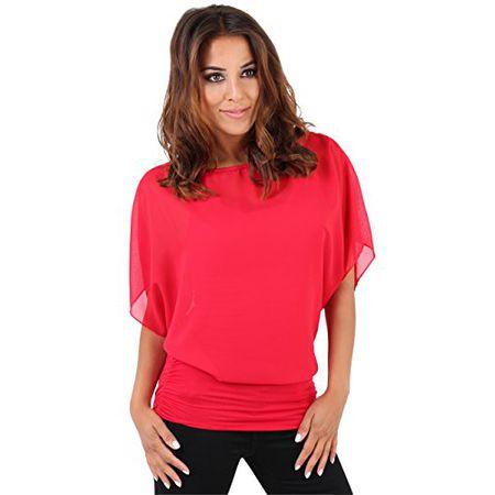 KRISP Damen Bluse 3559, Rot (Rot 3559 4), 40 (Herstellergröße  48fc857fae