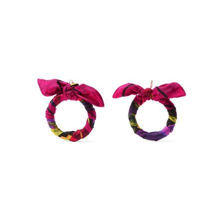 Balenciaga Ohrringe Aus Bedrucktem Seiden twill Pink