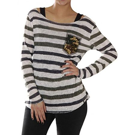 KEY Largo Damen Shirt Jessy Sand , Grösse XS Farbe offwhite 466f6bbdd6