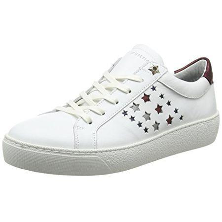 05554d2144dde8 Tommy Hilfiger Damen S1285UZIE HG 2A1 Sneaker, Weiß (White), 41 EU
