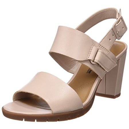 Clarks Damen Kurtley Shine Slingback Sandalen, Pink (Dusty Pink), 40 EU