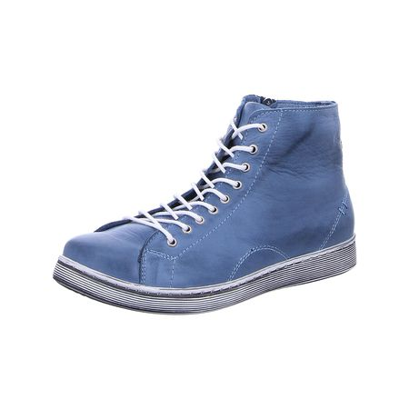 Andrea Conti Schnürhalbschuhe Schnürschuhe blau Damen