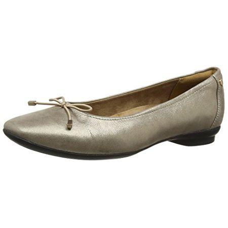 Clarks Damen Candra Light Geschlossene Ballerinas, Silber (Champagne), 41.5  EU 7dae1db0bb