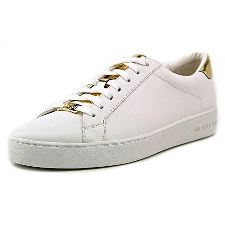 9472bab85a0e Damen Schuhe Sneakers MICHAEL KORS Irving Lace Up Leather White Optic Gold  Weiss
