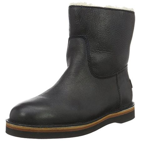 7045e47fefa97d Shabbies Amsterdam Damen Shabbies Ladies Short Boot 16cm with Real Wool  Lining Alissa Matching Sole Schlupfstiefel