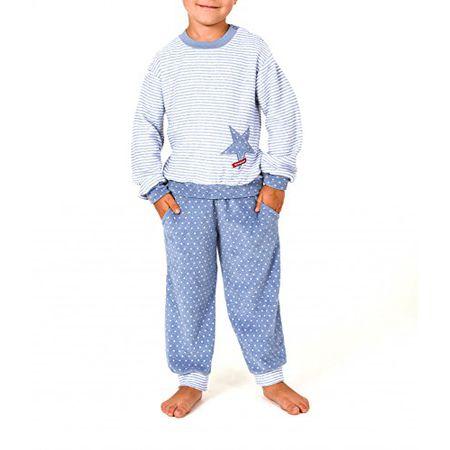 Süsser Mädchen Frottee Schlafanzug Pyjama lang mit Bündchen und coolen Spruch
