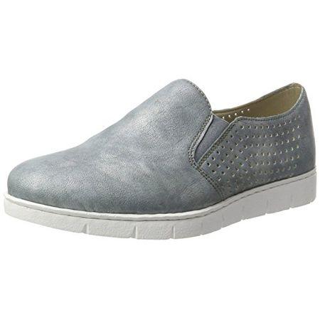 Rieker 41757 Women Loafers, Damen Slipper, Blau (atlantis14