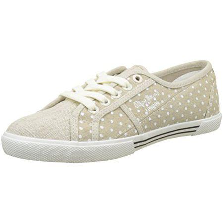 7e4b063551b48b Pepe Jeans London Damen Aberlady Sand Sneaker