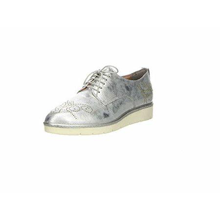 Tamaris Damen Plateau Schnürschuhe Silber, Schuhgröße:EUR 37