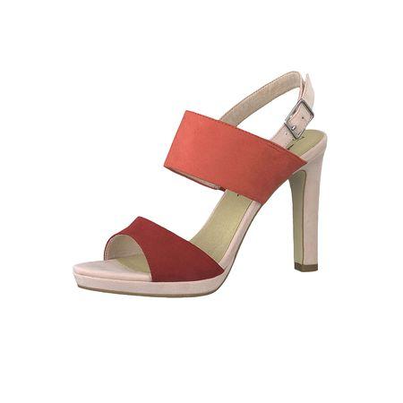 1 28115 22 952 Damen Rose Metallic Rosa Römer Sandaletten Sandale mit TOUCH IT Sohle