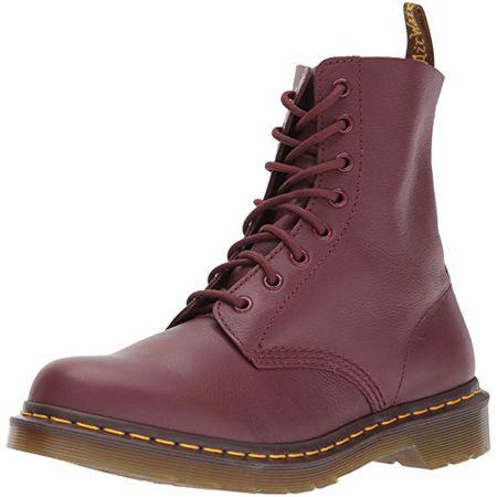 Dr. Martens PASCAL Virginia CHERRY RED, Damen Combat Boots, Rot (Cherry Red), 37 EU (4 Damen UK)
