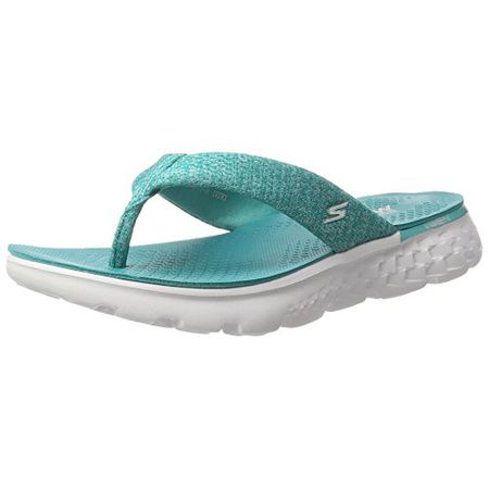 Skechers Damen on The Go 400 Radiance Sandalen, Grau (Char), 40 EU