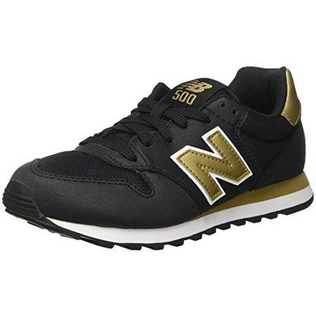 New Balance Damen 500 Sneakers, Mehrfarbig (Black/Gold), 40 EU