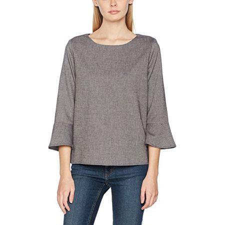 4d98b8241282 TOM TAILOR Damen Bluse Trendy Shirt Blouse, Grau (Coal Grey 2718), 36