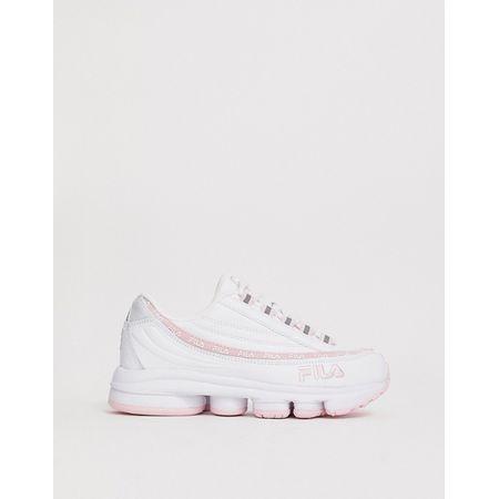 Fila Dragster 97 Sneaker in Weiß & Rosa Weiß