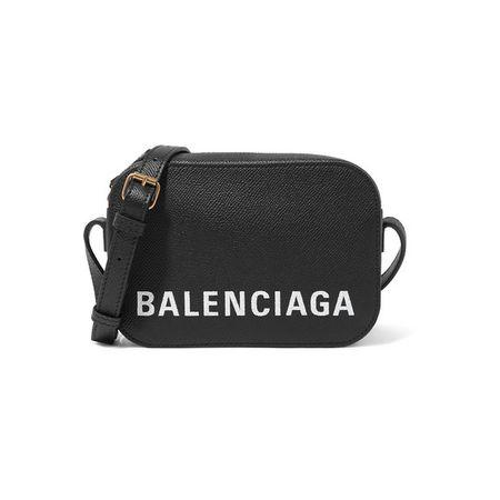 20919334bb64f1 Balenciaga - Ville Xs Aj Schultertasche Aus Strukturiertem Leder Mit Druck  - Schwarz