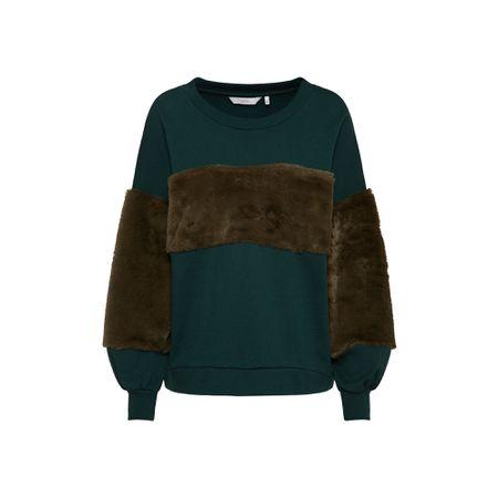 nümph Sweatshirt 'ivara' Pastellgrün Schwarz Damen
