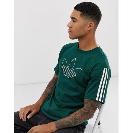 adidas Originals – Outline – Grünes T Shirt