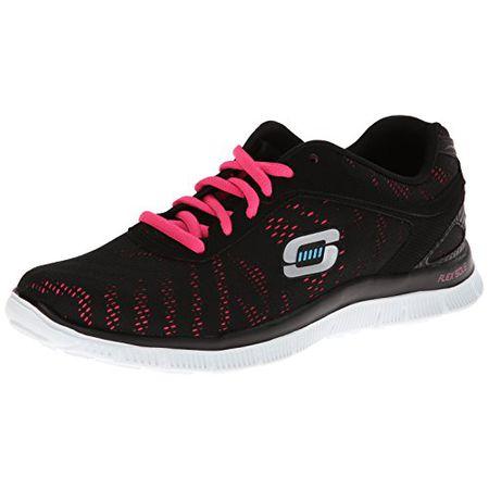 Skechers Flex Appeal Damen Sneaker Weiß Schuhe, Größe:38