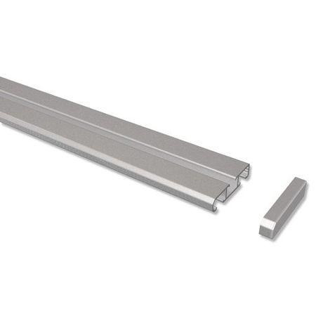 INTERDECO Aluminium Paneelwagen Wei/ß mit Klettband Universal 60 cm