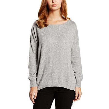 Blaumax Damen Regular Fit Pullover Jolina Gr. 38 (Herstellergröße: M) Grau (Grey mele 9412)