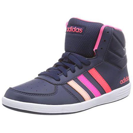 adidas NEO Baseline Vs Mid, Damen Hohe Sneakers, Mehrfarbig (BlackPink), 37 13 EU