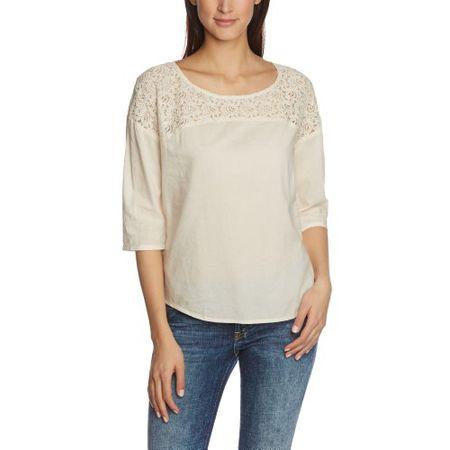 cb9a88cef3ee7 TOM TAILOR Damen Regular Fit Bluse festive fabric mix blouse/402, Gr. 38