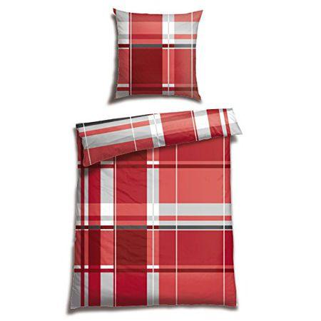 Schiesser Renforcé Bettwäsche Plemu Rot 100 Baumwolle In Verschiedenen Größen Erhältlich Farberot Webartrenforcé Größe135 Cm X 200