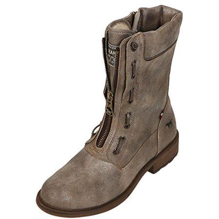 Mustang 1264 603 Schuhe Damen Stiefeletten Stiefel Warmfutter, Schuhgröße:41;Farbe:Braun