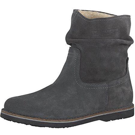 Tamaris Schuhe 1 1 26833 37 Bequeme Damen Stiefel, Boots, Stiefeletten, Sommerschuhe für Modebewusste Frau, Grau (Grey), EU 38