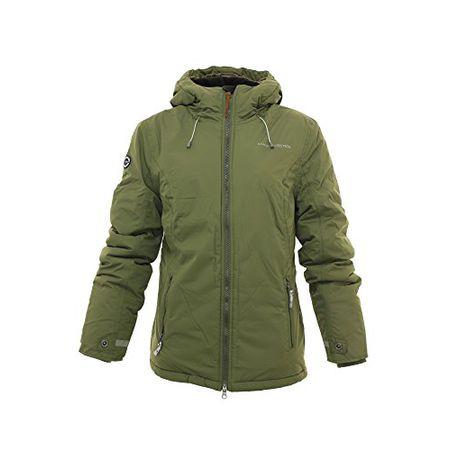 KANGAROOS Damen Parkajacke Outdoor Winterjacke Jacke mit Kapuze Khaki 40