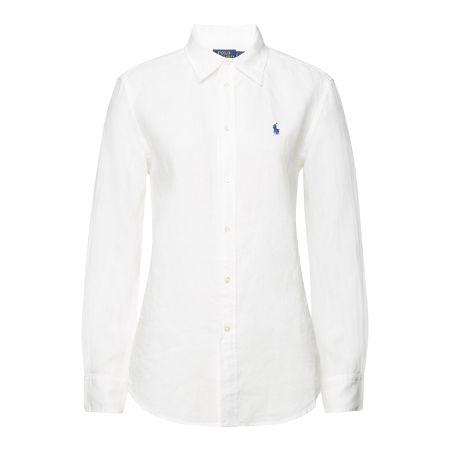 88dcf6165a0bf4 Polo Ralph Lauren Bestickte Bluse aus Leinen