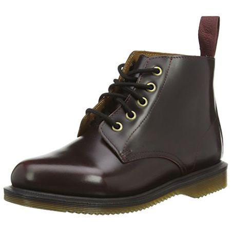 Dr. Martens Emmeline Pol. Smooth Cherry, Damen Combat Boots, Rot (Cherry Red), 39 EU (6 Damen UK)